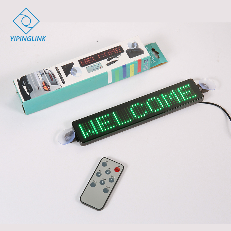 Car LED display scrolling text vehicle red blue green yellow white color LED display message sign portable advertising board|Circuits| |  - title=