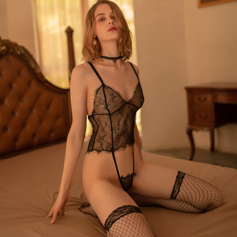 One piece transparent BODYSUIT Hot sexy temptation midnight romance