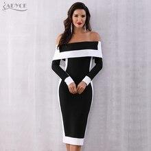 セクシーな冬のボディコン包帯ドレス女性 Vestidos 2020 Adyce