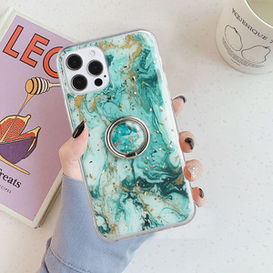 Image 3 - LOVECOM Vintage Gilt Gradient Marble Case With Ring For iPhone 11 12 Pro Max XR X XS Max 7 8 Plus Soft Epoxy Shockproof Cover
