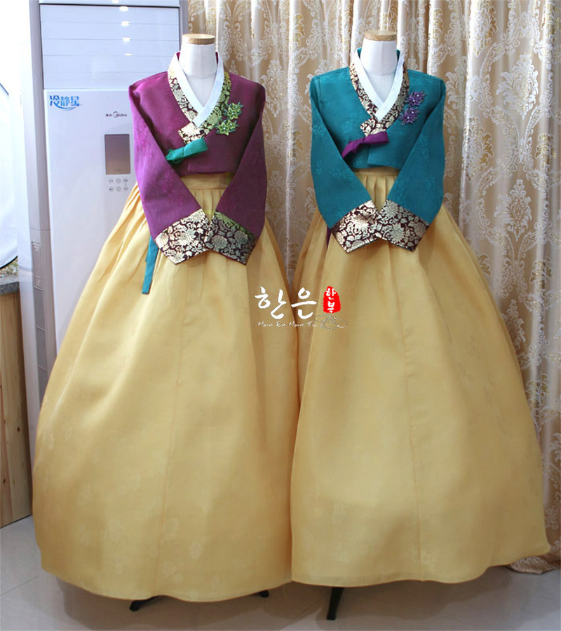 Korea Imported Fabric / New Improved Hanbok / Groom Bride Mother Hanbok