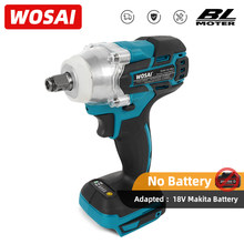 WOSAI – clé à percussion électrique sans fil, série MT 20V, sans brosse, Rechargeable, prise 1/2, outil électrique pour batterie 18V Makita