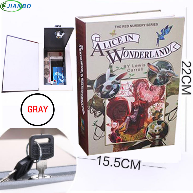 Safe For Money Home Security Dictionary Key Book Lock Cash Secret Box Safe Storage Piggy Bank Creative Money Box Accessories