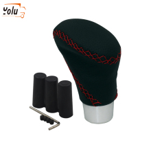 YOLU Universal Manual and Automatic Car Gear Shifter Shift Lever Knob Cover Leather only fits for circular gear lever