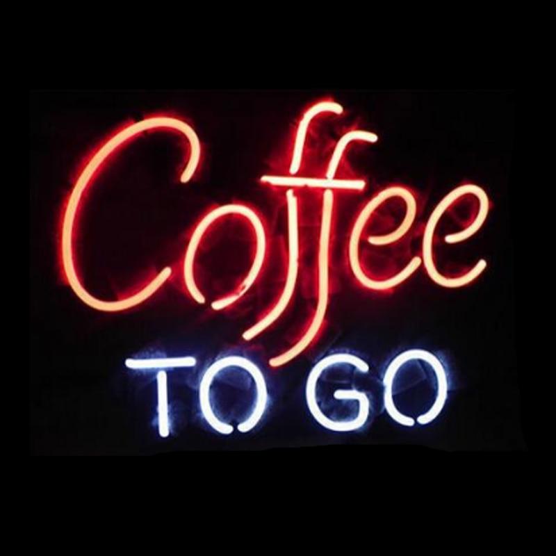 COFFEE TO GO Neon Sign Custom Handmade Real Glass Tube Drink Bar Hotel KTV Store Company Decoration Display Neon Signs 17