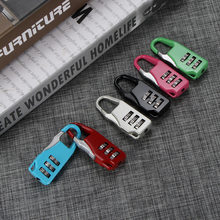 New Resettable 3 Dial Digit Combination Suitcase Luggage Password Code Lock Padlock Travel Bags Security Lock Girl Like(China)