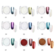 1 шт. Серебряный зеркальный волшебный пигмент для ногтей порошок DIY маникюр пыль блестящий гель лак для ногтей женские хромированные пылеустойчивые декорации TSLM2