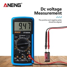 DT-9205A LCD Digital Multimeter AC/DC Ammeter Voltmeter Current Voltage Ohm Tester Meter Back light Large Screen Multimeter dt 17n handheld digital multimeter lcd backlight manual portable auto range ad dc voltmeter ammeter ohm voltage test multimeter