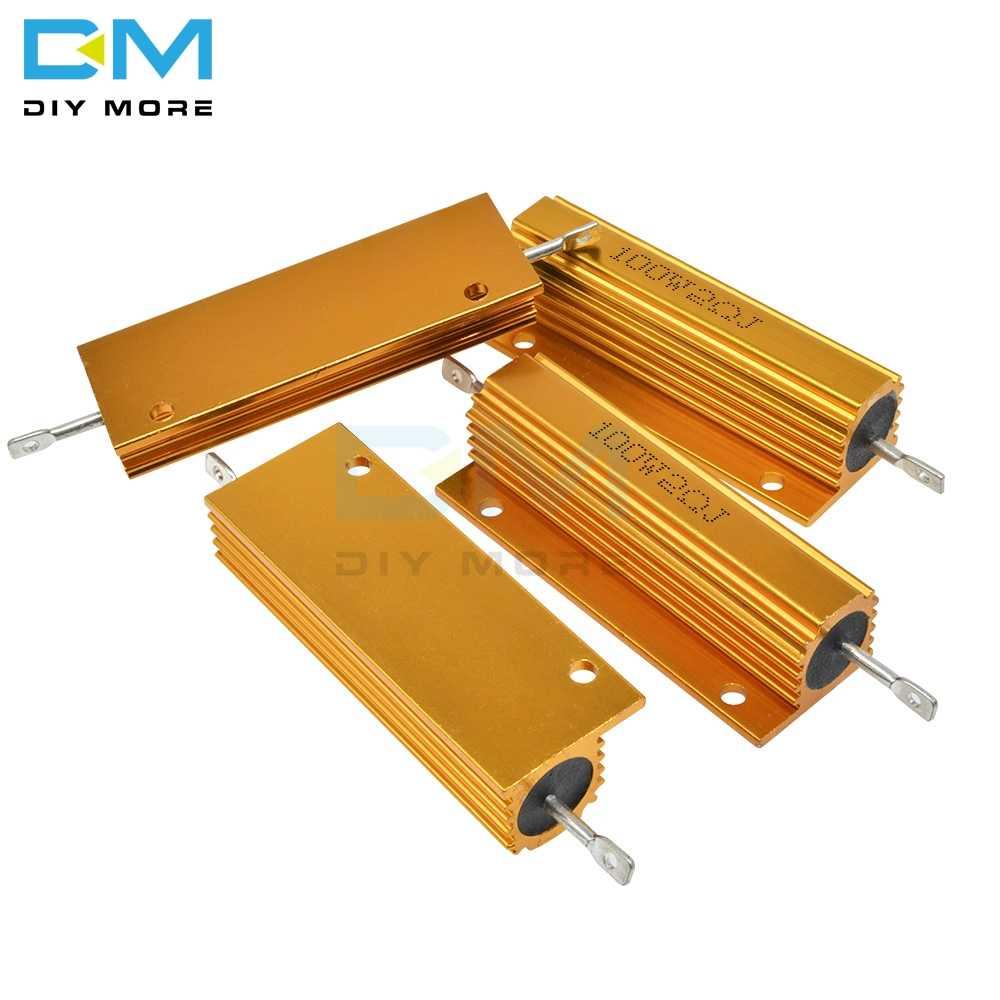0.5R 1R 2R 4R 6R 8R 10R 20R 100W 5% + 5% -5% de Alumínio Caso Shell Alojado Wirewound Resistor de Energia 0.5/1/2/4/6/8/10/20/50/100 Ohm