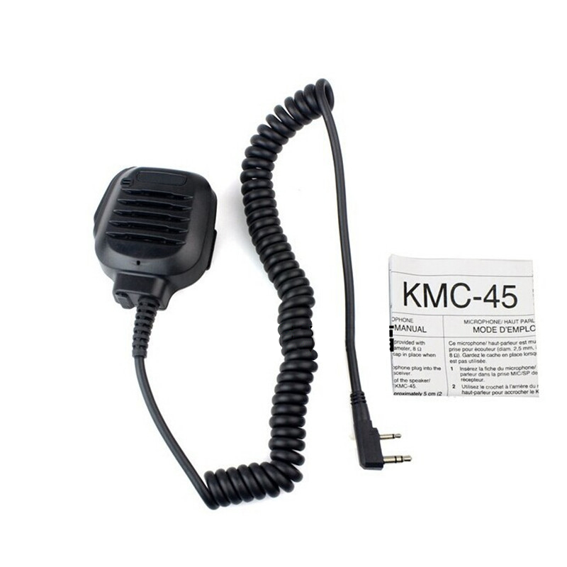 Handheld Portable Speaker Mic Microphone PTT For Kenwood Radio Transceivers TK3302 TK3360 NX420 TK3400 TH-F7 Walkie Talkie