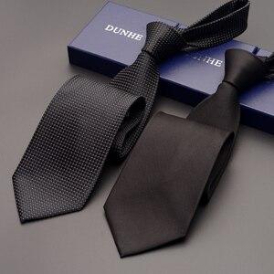 Высокое качество 2019 новые модные галстуки для мужчин бизнес 9 см черный серый шелковый галстук рабочие свадебные галстуки для мужчин дизайн...