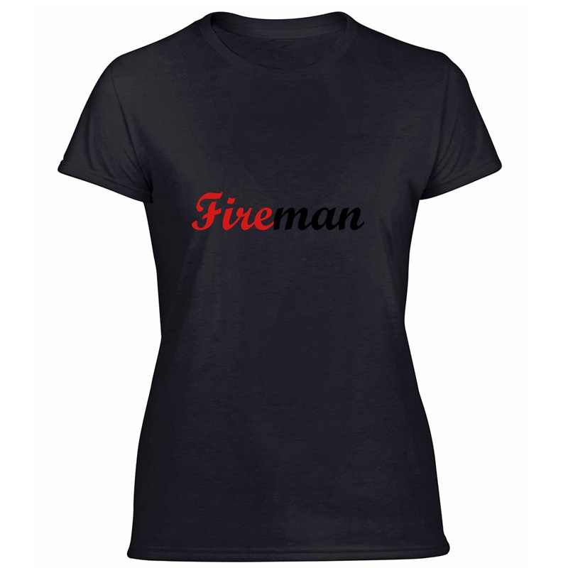 The New Fitted Fireman / Firefighter / Fire / Pompier / Incendie T-Shirt For Womens Humor Unisex Tshirts Black 2020 Short-Sleeve