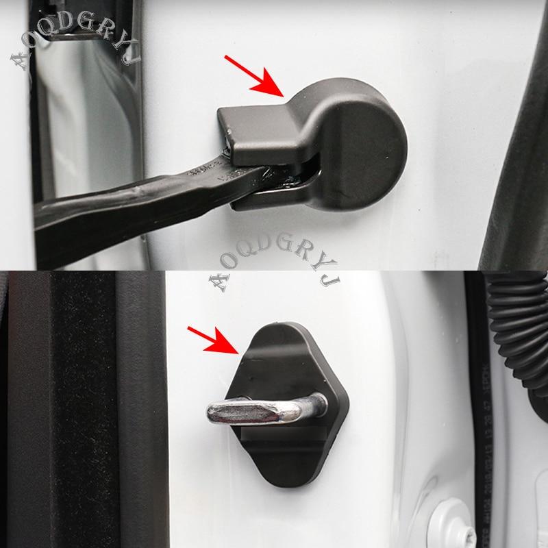 4 PCS Plastic Car Door Lock Check Arm Cover Protector Fit For Jaguar XJ XF XE F-PACE E-PACE Hingebuckle Case Car Accessories