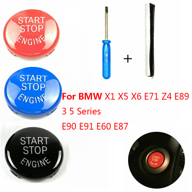 Car Engine START Button Replace Cover STOP Switch For BMW 1 3 5 Series E87 E90/E91/E92/E93 E60 X1 E84 X3 E83 X5 E70 X6 E71 Z4