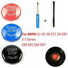 Botão Substituir Tampa do Interruptor de PARADA de PARTIDA do Motor Do carro para BMW 1 3 5 Série E87 E90/E91/E92/E93 E60 X1 E84 X3 E83 X5 E70 X6 E71 Z4