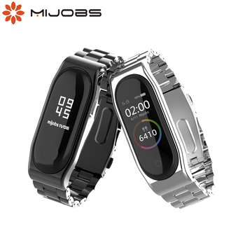 Mi Band 5 Strap Global NFC Metal Stainless Steel Strap For Xiaomi Mi Band 4 Bracelet MiBand 3 Strap Wristband Smart Watch Wrist