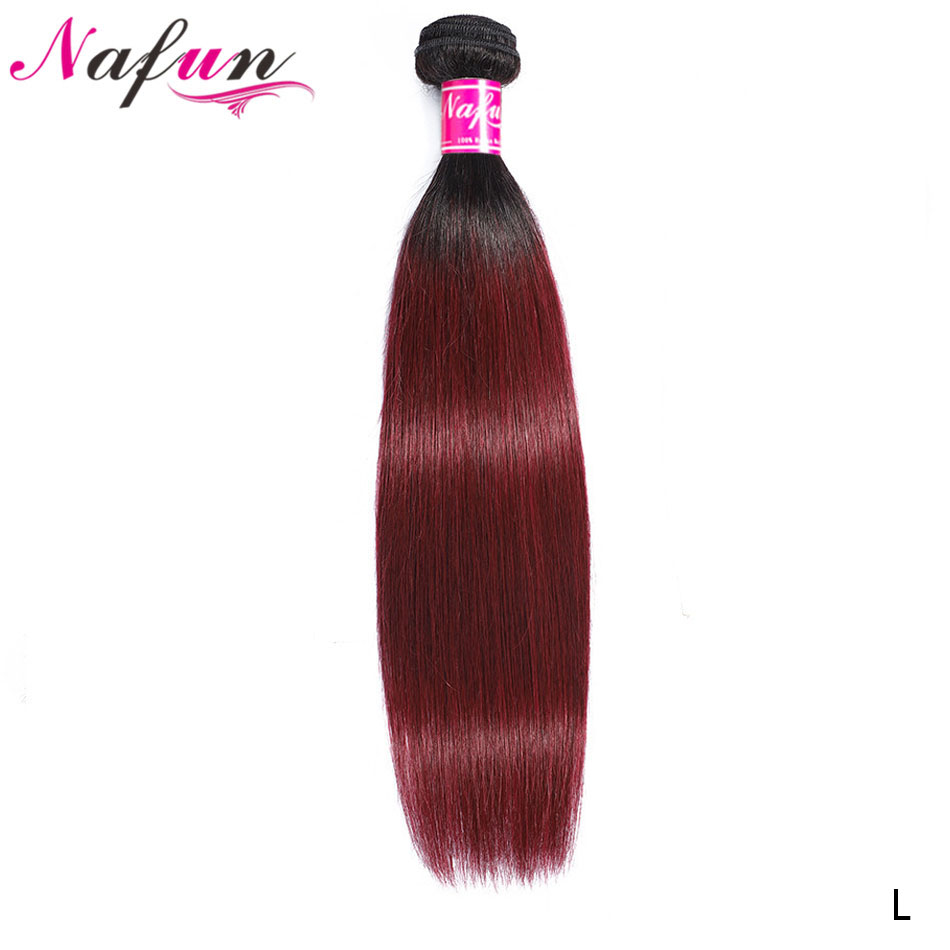 Ombre Human Hair Extension 1B 27 30 99J Bundles Peruvian Straight Real Human Hair Bundles Pre Colored Bundles Non-Remy Hair