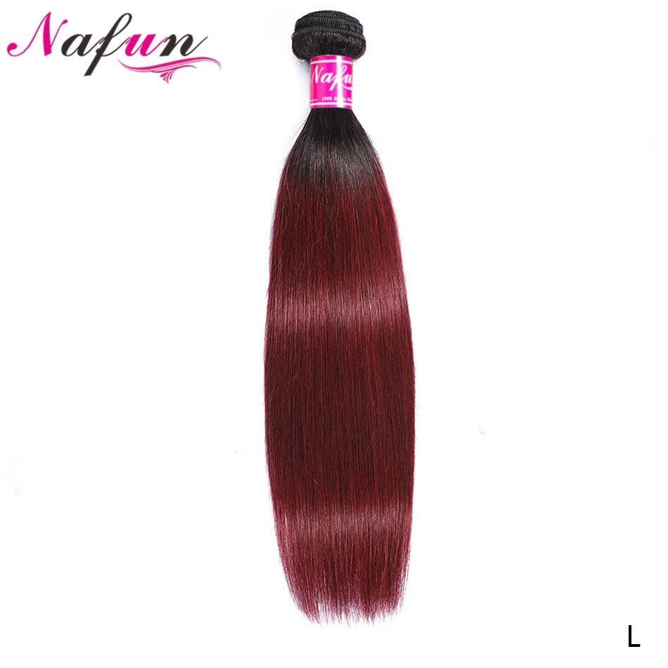 Ombre Human Hair Extension 1B 27 30 99J Bundles Peruvian Straight Real Human Hair Bundles Pre Colored Bundles Non-Remy Hair