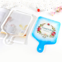 DIY Handmade Handle Tray Mold Crystal Epoxy Resin Mold Compote Coaster Japanese Dinner Plate Silicone Resin Compote Mold(China)