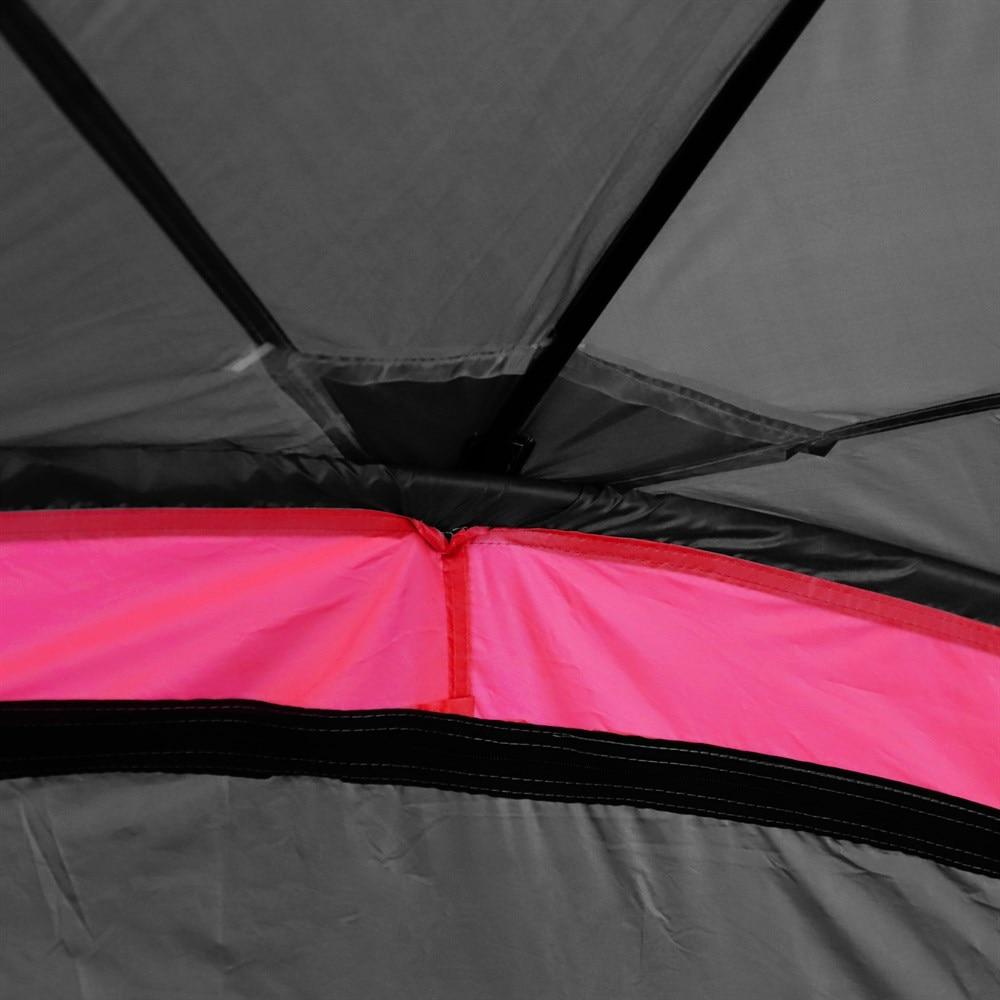 Outsunny tente imperméable UV pour 6 personnes plage Camping polyester 330x330x255 cm noir et - 5