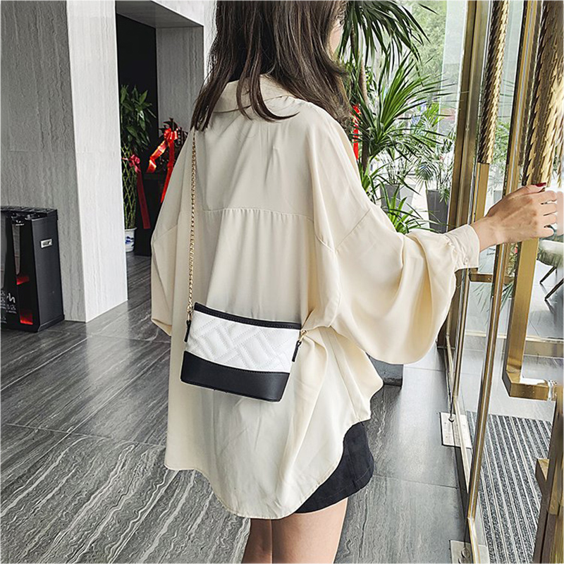 Fashion Ladies Shoulder Bag High Quality Casual Messenger Bag Simple Female Multi function Small Square Bag Wear resistant Black in Top Handle Bags from Luggage Bags