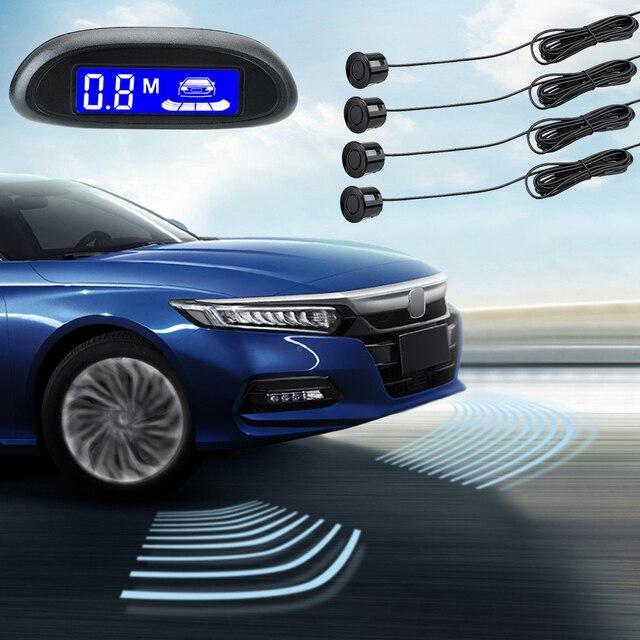 자동차 자동 Parktronic LCD 디스플레이 주차 센서 시스템 부저 감지기 시스템 4 센서 12V DC 반전 레이더