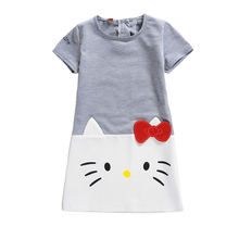 Girls Dress Kids Dresses for Girls Hello Kitty 2019 Brand Children Dresses for Girls Princess Christmas Kids Clothes