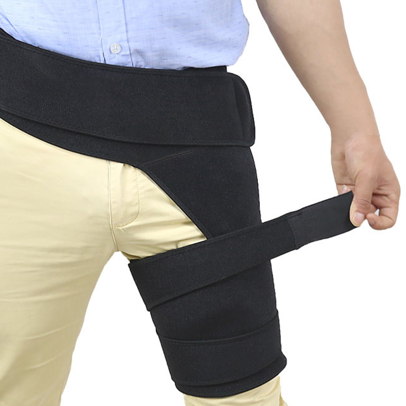 Men Women Compression Sport Thigh Waist Wrap Strap Hip Stability Brace Protector Breathable Adjustable Groin Support Jockstrap