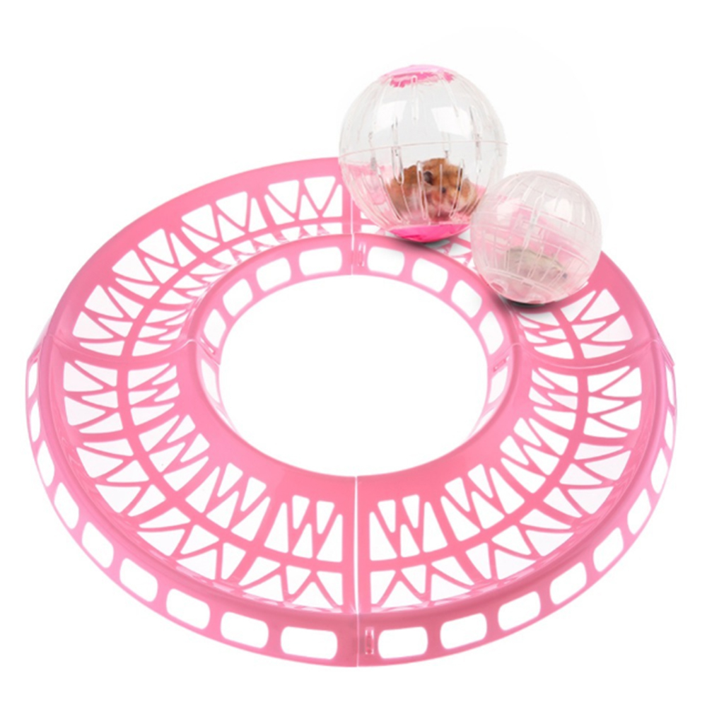 Hamster Running Ball Track Toy Exercise Track Small Pet Runway Toys For Hamster Guinea Pig For Hamsters Of All Sizes Balls Toys