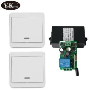 Image 1 - 433 315 Remote Control Switch AC 110V 220V 240V 85V 260V Light Lamp LED Bulb Wireless Switches Corridor Room Wall Panel Switch