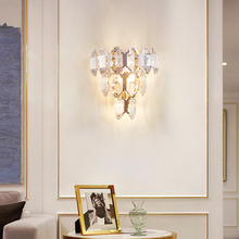 Modern Crystal Wall Lamp For Bedroom Wall Light Bedside Lamp Aisle Lights LED Home Lighting Indoor Light Fixture Bathroom Lamps led wall light bedroom bedside lamp book reading lamp wall lamps indoor modern bedroom led ceiling wall lights home wall sconce