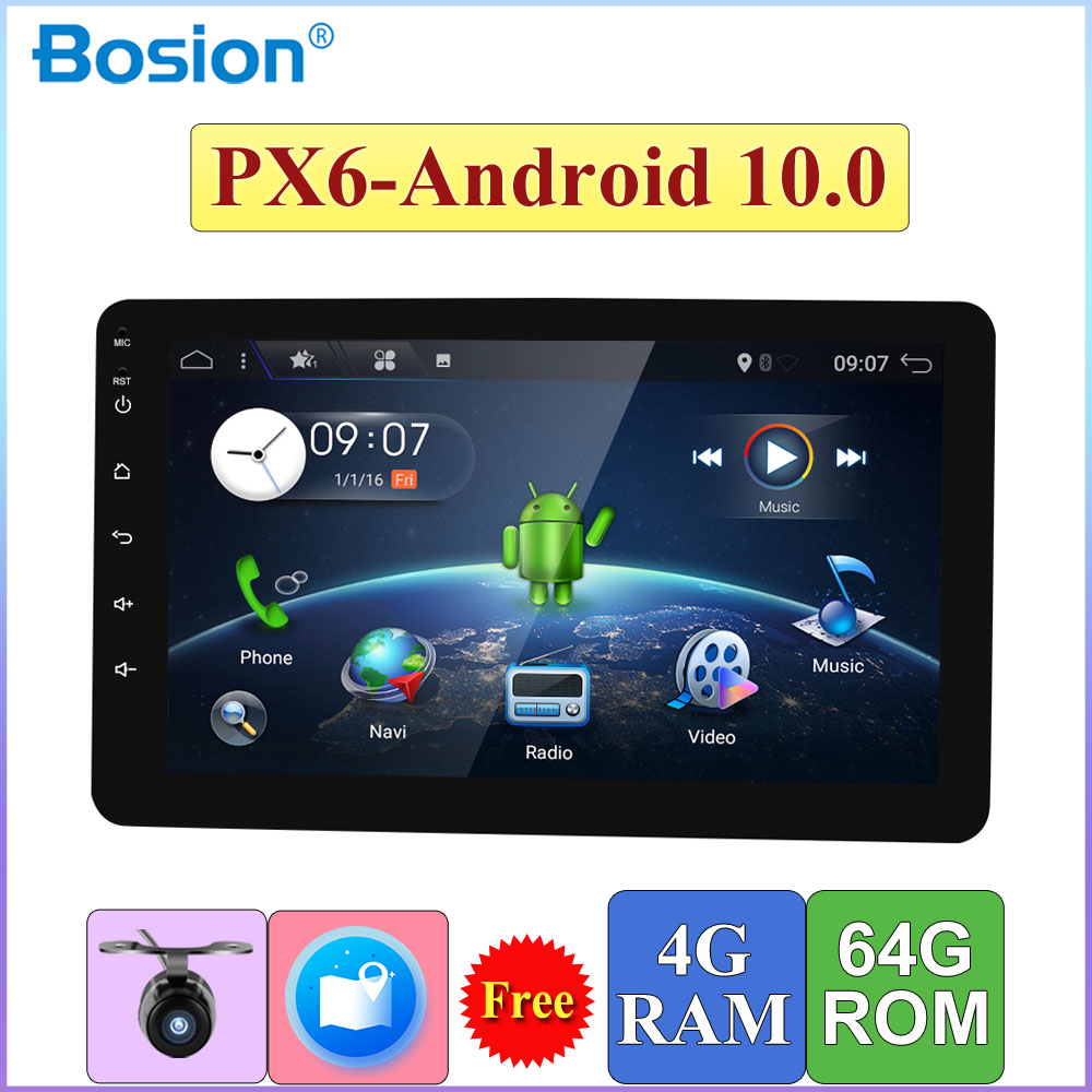 Android 10,0 Einzel Din GPS multimedia-player 4G + 64G Auto Radio Stereo Audio-Player PC Kopf einheit mit Lenkrad Control KARTE