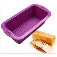 цена на Silicone Cake Molds Temperature Resistant Bread Baking Toast Bread Rectangular Baking Pan Reusable Cake Molds