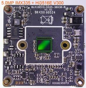 """Image 2 - 5MP Ống kính mắt cá H.265/H.264 1/2. 8 """"SONY STARVIS IMX335 CMOS + Hi3516E V300 CAMERA QUAN SÁT IP PCB mô đun + LAN + IRC"""