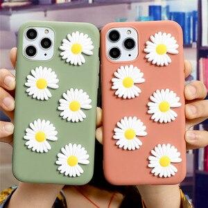 Cute 3D Daisy Flower Soft TPU