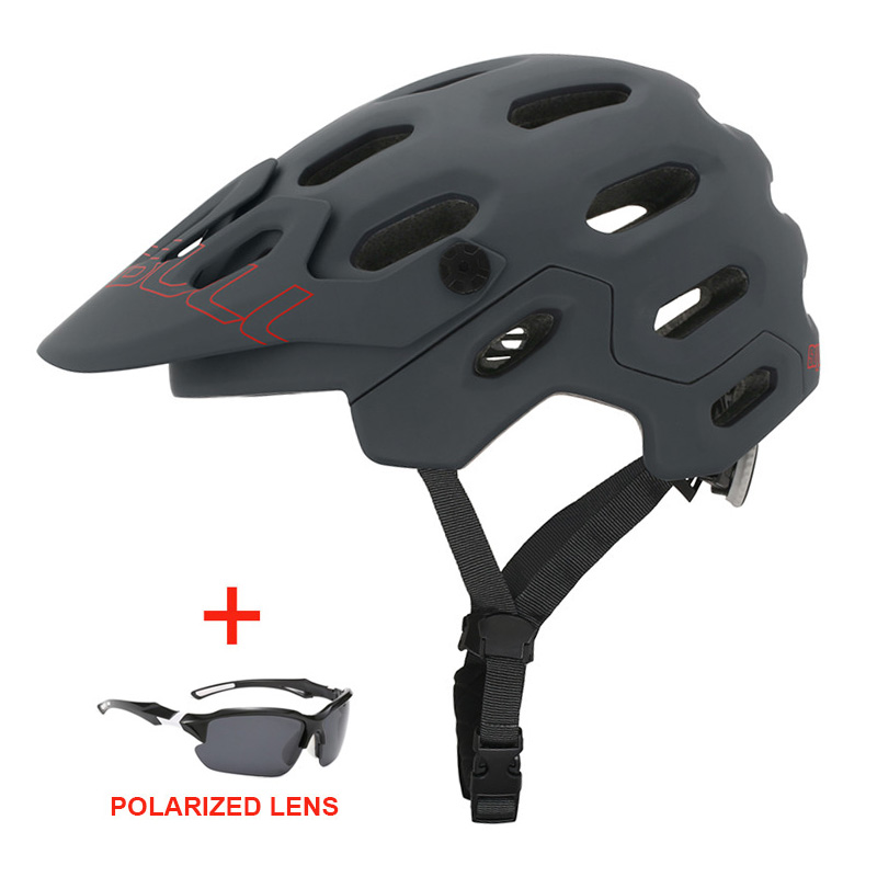 Sports Ultralight Racing Cycling Helmet with Sunglasses Unisex Outdoor Mtb Bicycle Helmet In-mold Road Mountain Bike Helmet