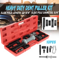 13PC Heavy Retractable Dent Puller w/10lbs Slide Hammer Auto Body Truck Repair Tool Kit Hand Tool Sets