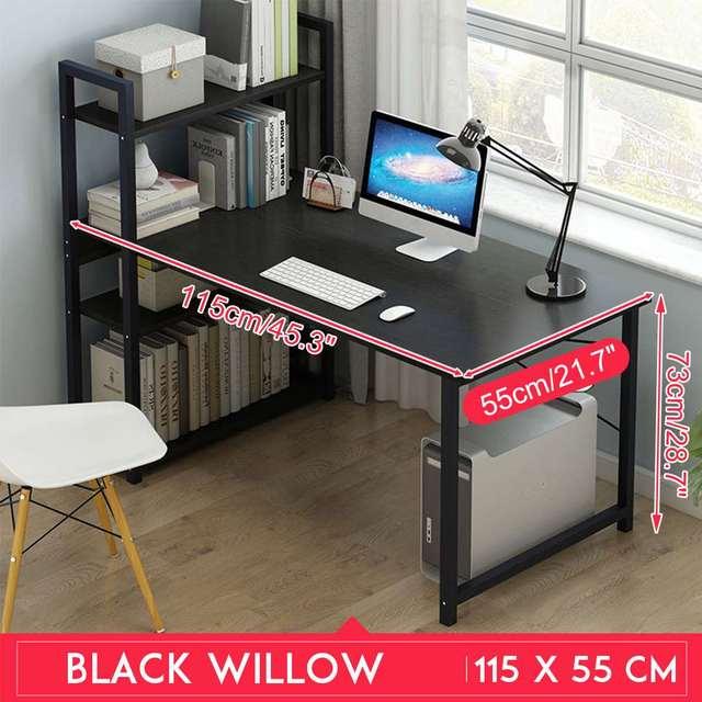 Computer Desk Table Study  w/ Bookshelf 5
