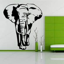 Elephant animal wall sticker vinyl home decor artistic  waterproof removable art mural JH201