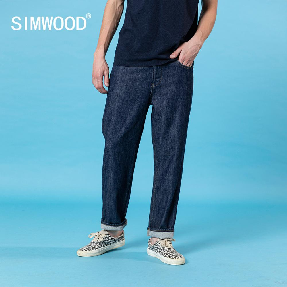 SIWMOOD 2020 Summer New Loose Straight Jeans Men Fashion Oversize Denim Trousers Plus Size Casual Ankle-length Jean SJ170223