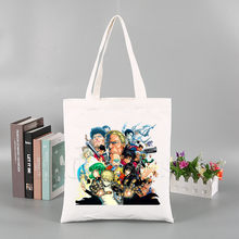 One Punch Man Japanese Manga Anime Tote Bag Unisex Canvas Bags Shopping Bags Printed Casual Shoulder Bag Foldable(China)