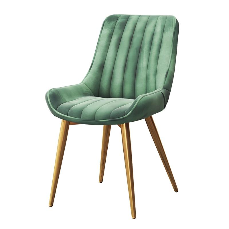 LOFT Nordic Leisure Designer Office Chair Light Luxury Iron Art Simple Modern Soft Sofa Dining Chair Back Stool