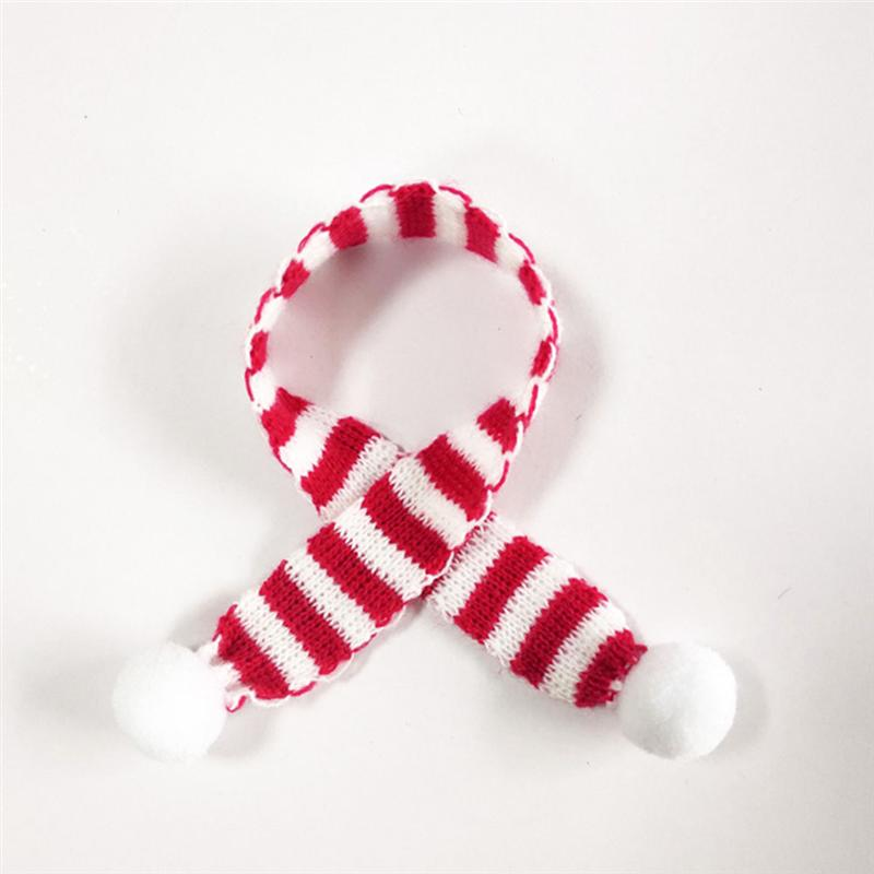 100% Quality 12pcs Red And White Mini Christmas Scarf Christmas Stripes Red Wine Bottle Knit Scarf Doll Cover Xmas Party Ornament Decoration Up-To-Date Styling