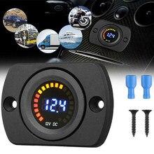 12v indicador de nível de carga da bateria acidificada ao chumbo do carro testador bateria de lítio medidor de capacidade da bateria led tester voltímetro display duplo