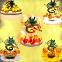 Dragon Ball Z Shenron PVC figuras de acción Led bolas de cristal de juguete Dragon Ball Super Shenlong Anime estatuilla DBZ Esferas Del dragón