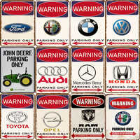 ¡Aparcamiento! Los demás letreros de advertencia de estacionamiento metálicos serán desechados.