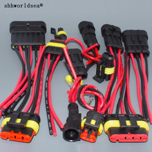 Female-Plug Harness Wire-Cable Electrical-Auto-Connector Waterproof Shhworldsea 6P 4P
