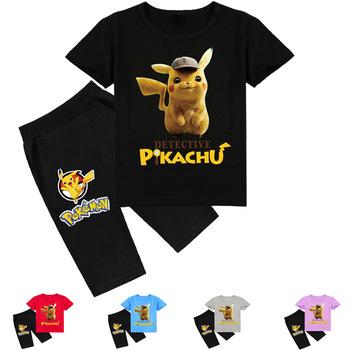 Pokemon Baby Boy ubrania letnie ubrania dla dzieci zestawy T-shirt + spodnie garnitur gwiazda ubrania dresy sportowe tanie i dobre opinie TAKARA TOMY COTTON Damsko-męskie W wieku 0-6m 7-12m 13-24m 25-36m 4-6y 7-12y 12 + y Na co dzień CN (pochodzenie) Lato