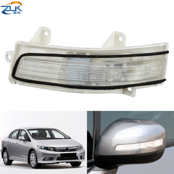 ZUK Rearview Side Mirror Turn Signal LED Light Outer Wing Mirror Lamp For HONDA For CIVIC 2012-2014 CITY 2009-2014 JADE CRIDER image