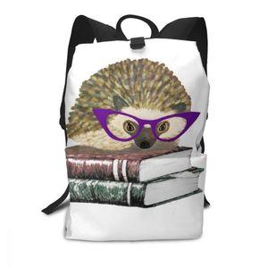 Image 5 - Hedgehog Rucksack Hedgehog Rucksäcke Schule Hohe qualität Tasche Männer Frauen Muster Trend Student Taschen